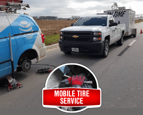 Houston Mobile Tire Repair Service On Time Tires