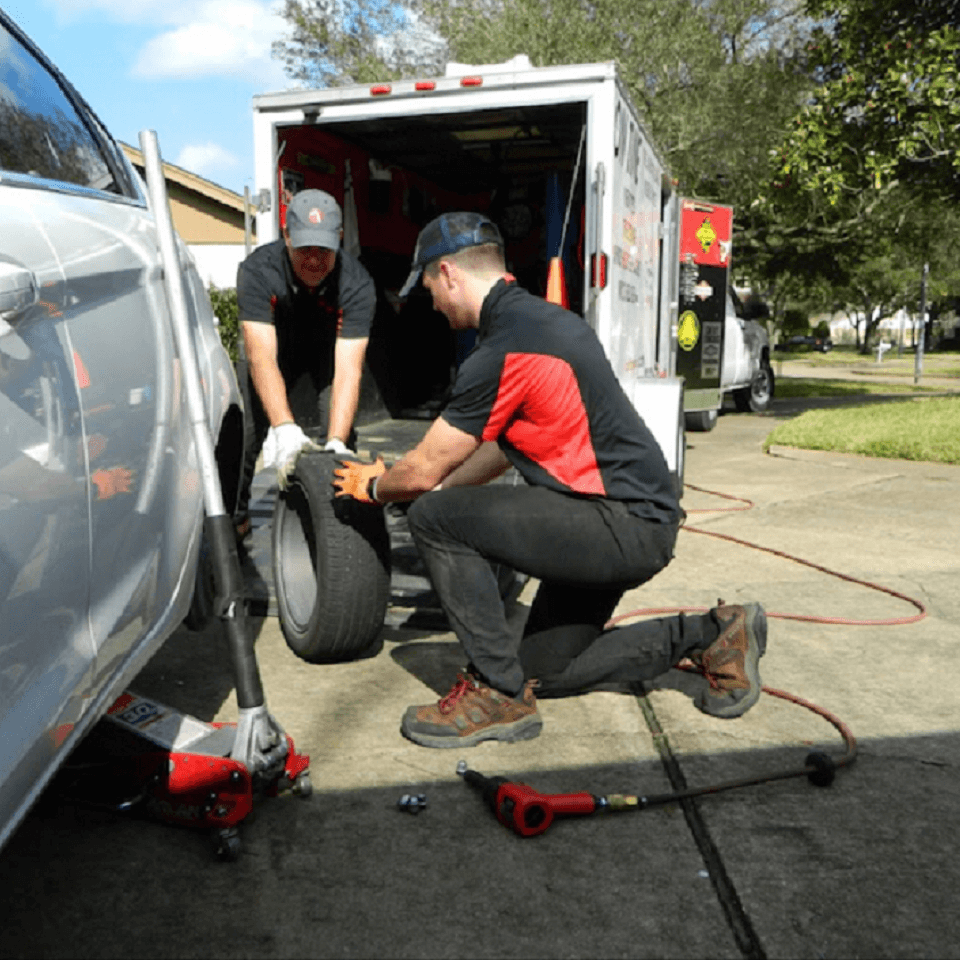 Mobile Tire Repair Service Houston On Time Tires